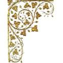 Gold Floral corner