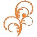 orange flower swirl