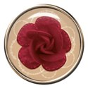 rose glass button