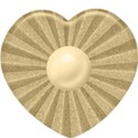 beige heart button