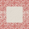 Red white border background pattern