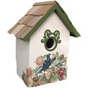 birdhouse painted pigeons