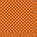 tangerine and brown criss cross 6 x 6 square
