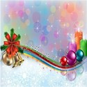 shiny Christmas ornaments background