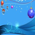 christmas ornament garland background