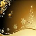 Golden-Christmas-background