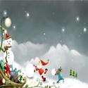 Christmas sleigh background