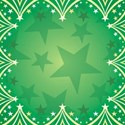 Christmas Stars on green background