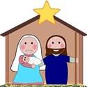 Cartoon nativity