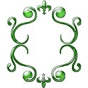 Border frame green