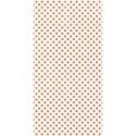 half sheet tangerine polka dot