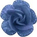 blue felt rose
