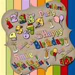Birthday wordart w/ backgrounds & frames