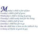 Mondays Child 1