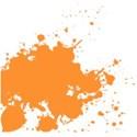 DDD-Paint Splatter Orange