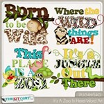 Its A Zoo In Here Word Art