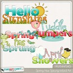 Spring Has Sprung Word Art