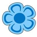 flower 1 blue