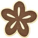 Brown Chipboard Flower