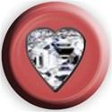 peach heart button