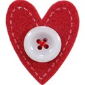 Felt Heart with Button