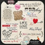 LOVEY DOVEY WORDART