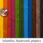 Wooden textured Digital Papers Pack