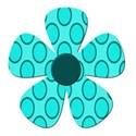 dot blue flower