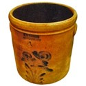 Antique Crock Blue design
