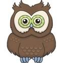 CK5e Owl Brown ScrapGraphicsDotCom