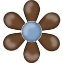 CK5e Flower Brown ScrapGraphicsDotCom