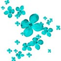 turquoise flowers