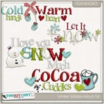 Winter Wishes Word Art