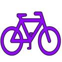 Bike mauve black