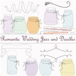 Romantic Wedding Jars and Doodles