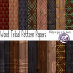 Wood Tribal Pattern Papers
