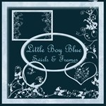 Little Boy Blue Swirls & Frames