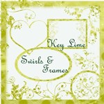 Key Lime Swirls & Frames