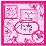 Funky Fuscia  Swirls Frames & Pages