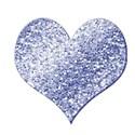 glitter heart blue