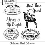Christmas Word Art - Set One