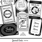 B&W Journal Cards - Set Two