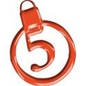 JAM-ChristmasJoy-Alpha2-Orange-num-5