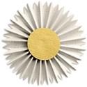 White Folded Flower