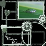 Green Frames, hearts and flowers