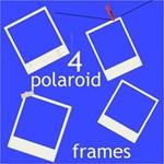 4 polaroid frames