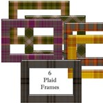 6 Plaid Glass Frames