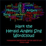 Hark the Herald Angels Sing wordart